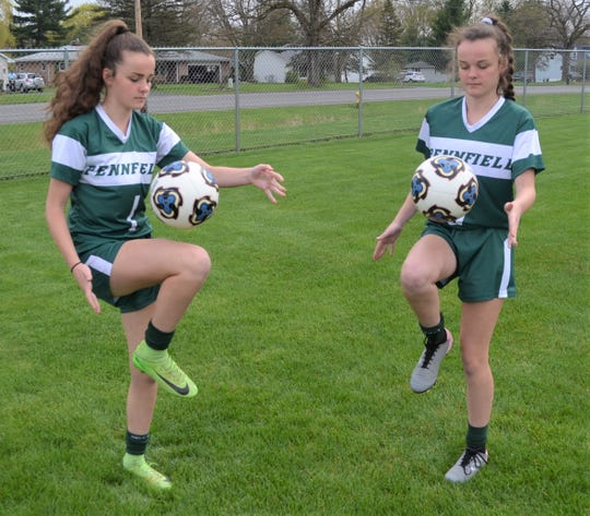 Twin sisters, Kelsie Beech and Karra Beech, were set for their senior season for the Pennfield soccer team.