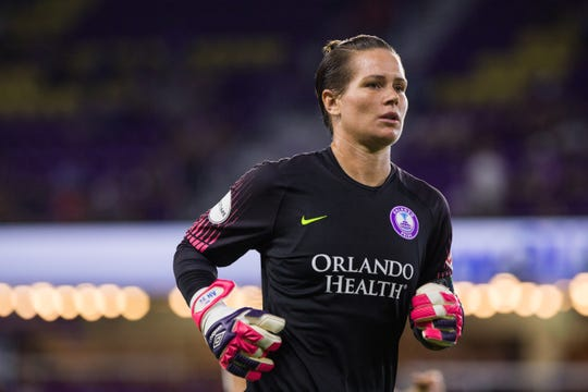 Ashlyn Harris, 33, the captain for the Orlando Pride, has made 21 international appearances for the U.S. team.