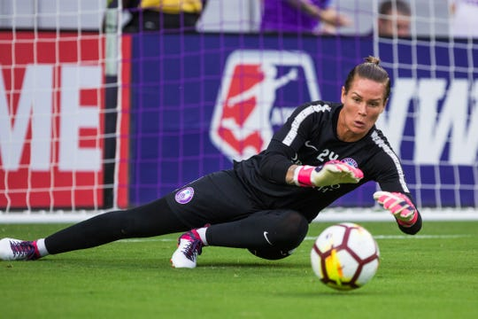 Ashlyn Harris, 33, the captain for the Orlando Pride, is on the U.S. Women's National Soccer Team heading to France.