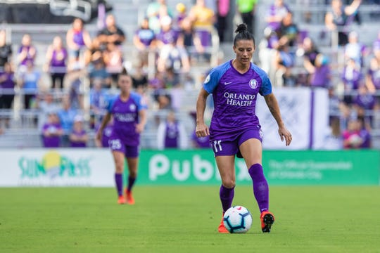 Ali Krieger, 34, is a veteran defender on the Orlando Pride soccer team and will be joining fiancée Ashlyn Harris on the U.S. Women's National Soccer Team heading to France in June.