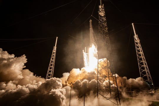 On July 18, 2016, a SpaceX Falcon 9 rocket blasted off from Cape Canaveral Air Force Station's Launch Complex 40 with the CRS-9 resupply mission to the International Space Station for NASA.