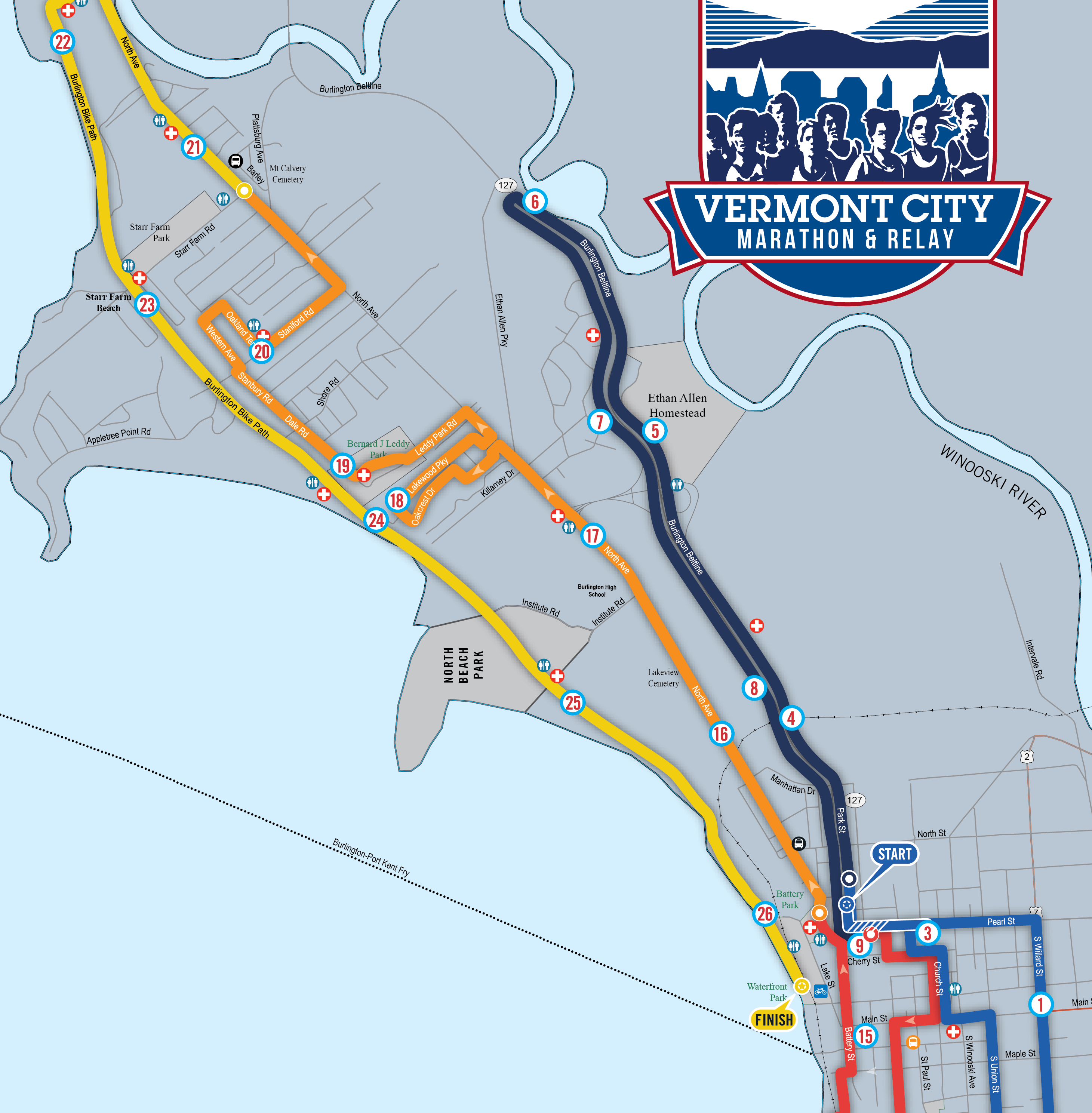 Vermont City Marathon: Course map, finish area for the 2019 race