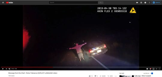 The Aransas Pass Police Department posted body camera footage of a traffic stop on Monday, April 29, 2019. A 30-year-old man attempted to flee police, threw a joint at an officer and pulled his pants down during the stop.