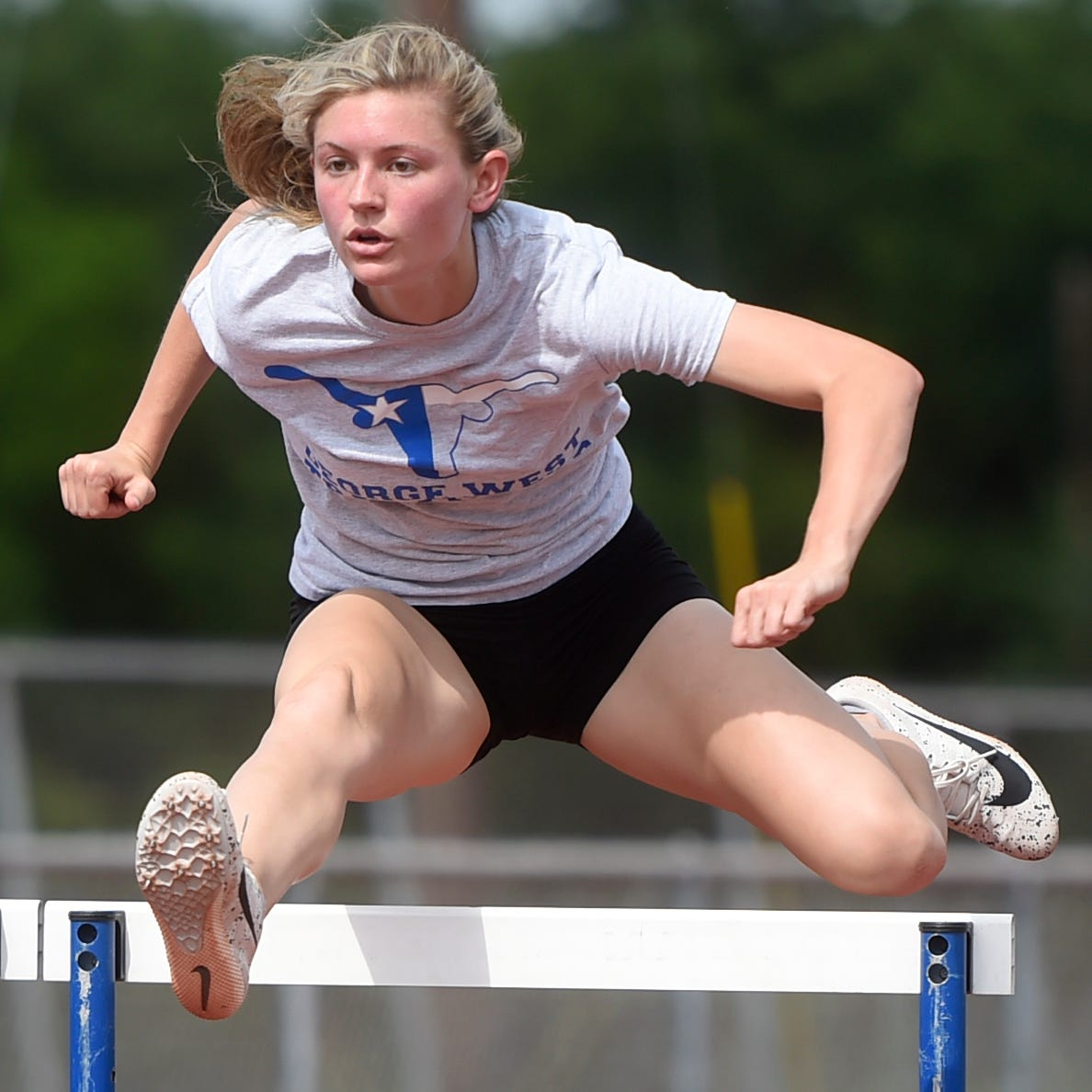 UIL State Track and Field: George West's Townsend prepares for state hurdles, high jump