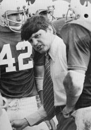 Camden Catholic High School football coach Jim Delaney led his 1966 team to a 9-0 record. It was one of only three undefeated football teams in school history.