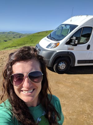 Roxanne Hagan, who began life as a traveling nurse in 2014, designed her van to make it a tiny home on wheels.