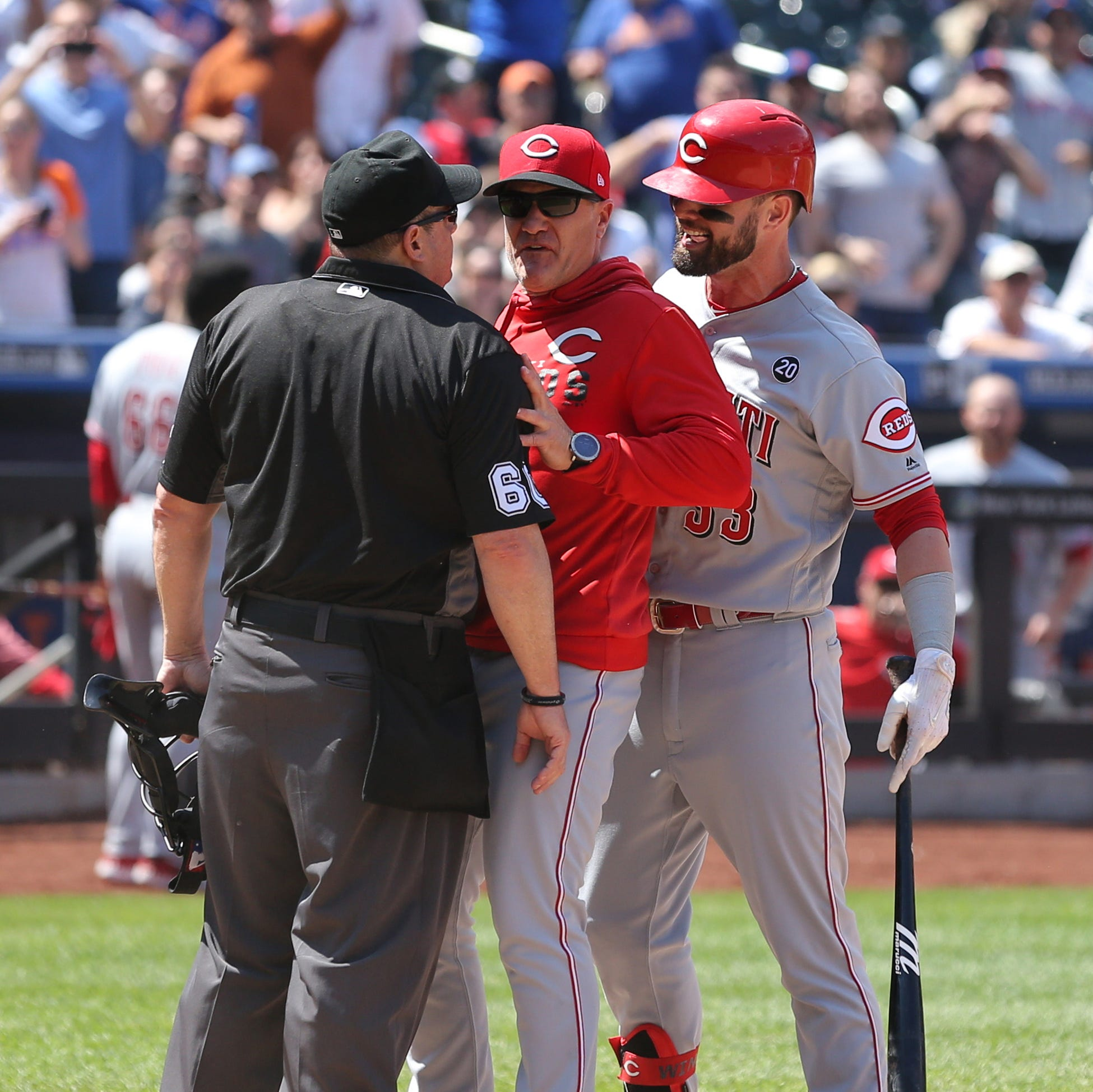 Jesse Winker and David Bell ejected during Cincinnati Reds' 1-0 loss to New York Mets