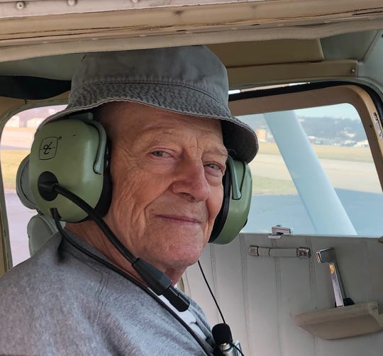 Otto Allmandinger flew with George Stinson under the Make a Memory program of Hospice Southwest Ohio.