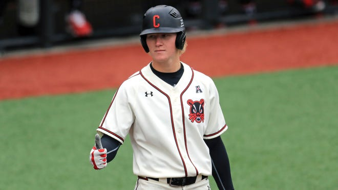 Cincinnati outfielder Joey Wiemer was selected by the Milwaukee Brewers on Thursday with the 121st overall pick in the 2020 MLB Draft.