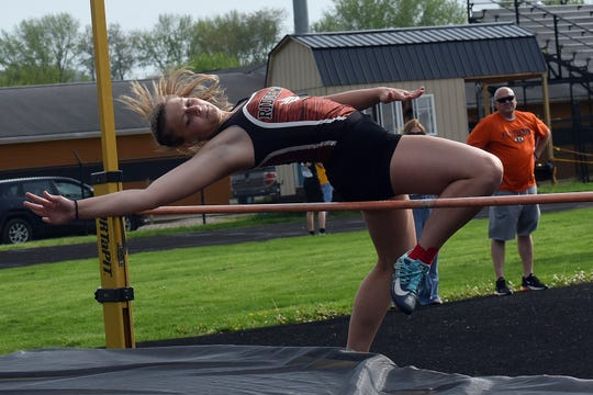 Ridgewood's Madisyn Colvin competed in the high jump during last season's Chuck McMasters Coshocton County Track and Field Meet. She is one of many underclassmen who are looking for ways to make the most of a lost season.