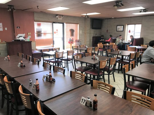 The dining room at Namaste is spacious with plenty of cozy booths and room for large parties.