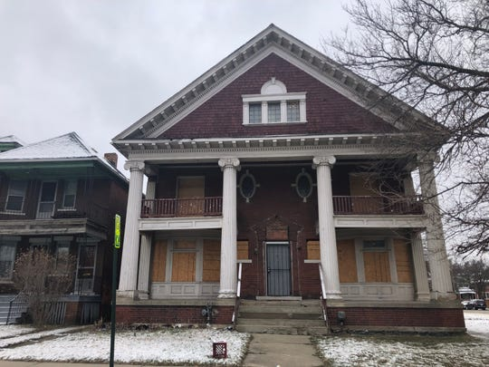 612 Clairmount a Detroit property Realty Transition purchased as part of the 2017 Action Before Auction program photographed on March 31, 2019. Realty sold the building for $105,000 in August 2018. It was subsequently sold again in September 2018 for $140,000.