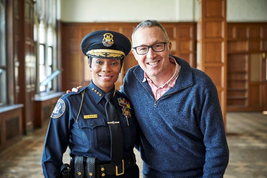 Marcus Lyon and First Assistant Chief of Police Lashinda Stair.