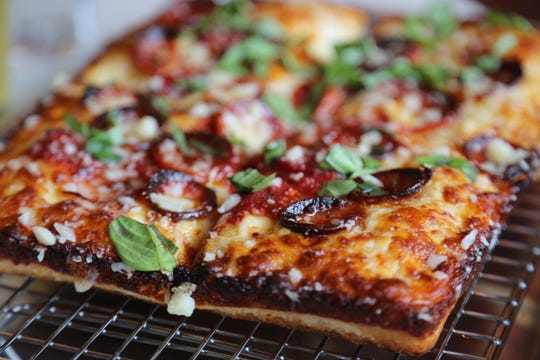 Peas & Carrots Hospitality Executive Chef Zack Sklar spent the last year perfecting his Detroit-style pizza recipe, which will make its public debut Monday, May 6, 2019, at the new Como's restaurant in Ferndale.