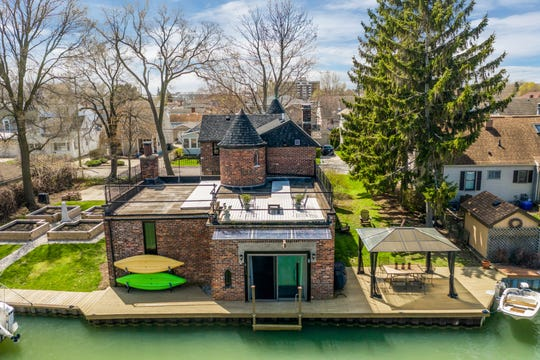 """The canal view of rock musicians Patti and Fred """"Sonic"""" Smith's former home in St. Clair Shores."""