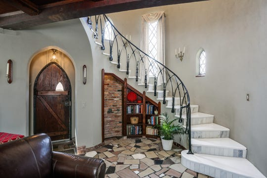 The interior of rock musicians Patti and Fred (Sonic) Smith's former home in St. Clair Shores.