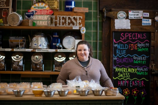 """Megan Lewis, manager of DeVries and Co., owned the Mootown ice cream parlor in the market and says Nelson has been """"very friendly to me."""""""