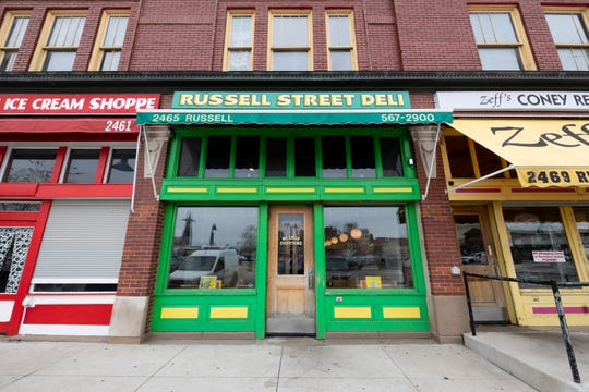 Entrance to the Russell Street Deli in Eastern Market in Detroit.