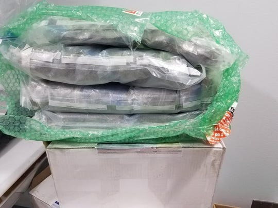 U.S. Customs and Border Protection Officers in Port Huron seized nearly 15 pounds of marijuana in a Canadian mail shipment.