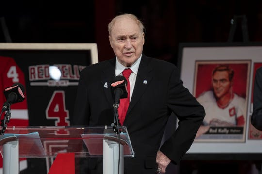 Red Kelly, whose No. 4 was raised to the rafters in February at Little Caesars Arena, passed away Thursday in Toronto at the age of 91.