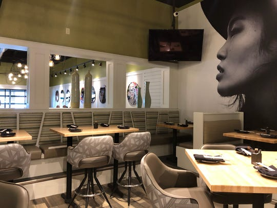 A view from the bar area at Zao Jun, which opens Monday in Bloomfield Township.