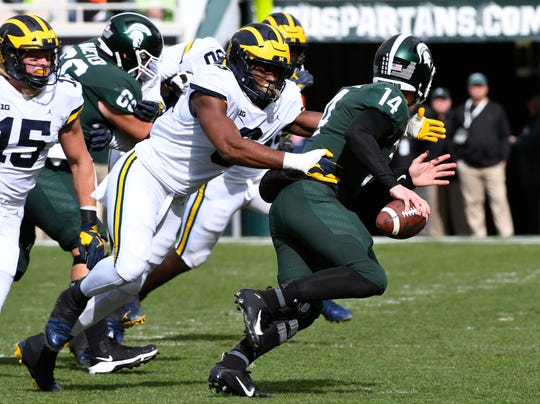 Michigan is ranked No. 7, and Michigan State is No. 23 in Sports Illustrated's post-spring college football top 25.
