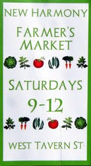 The New Harmony Farmers Market is open now with early crops, baked goods, arts, crafts and more.