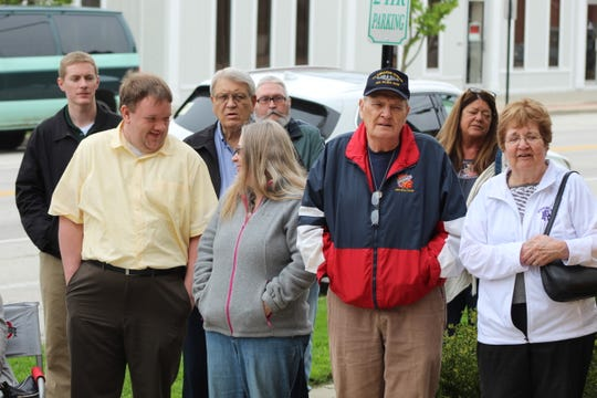 Local leaders and residents come together during National Day of Prayer Thursday in Fremont.