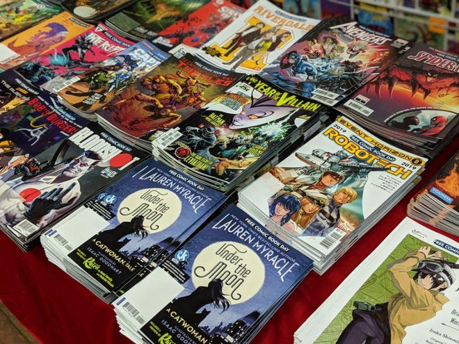 More than 1,500 comics were given away in the past at Rupp's Comics during Fremont Comic Book Day.