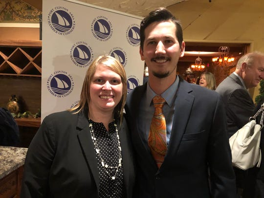 Main Street Board President, Tyler Brown  is with Past President Dana Bacak-Lynd.