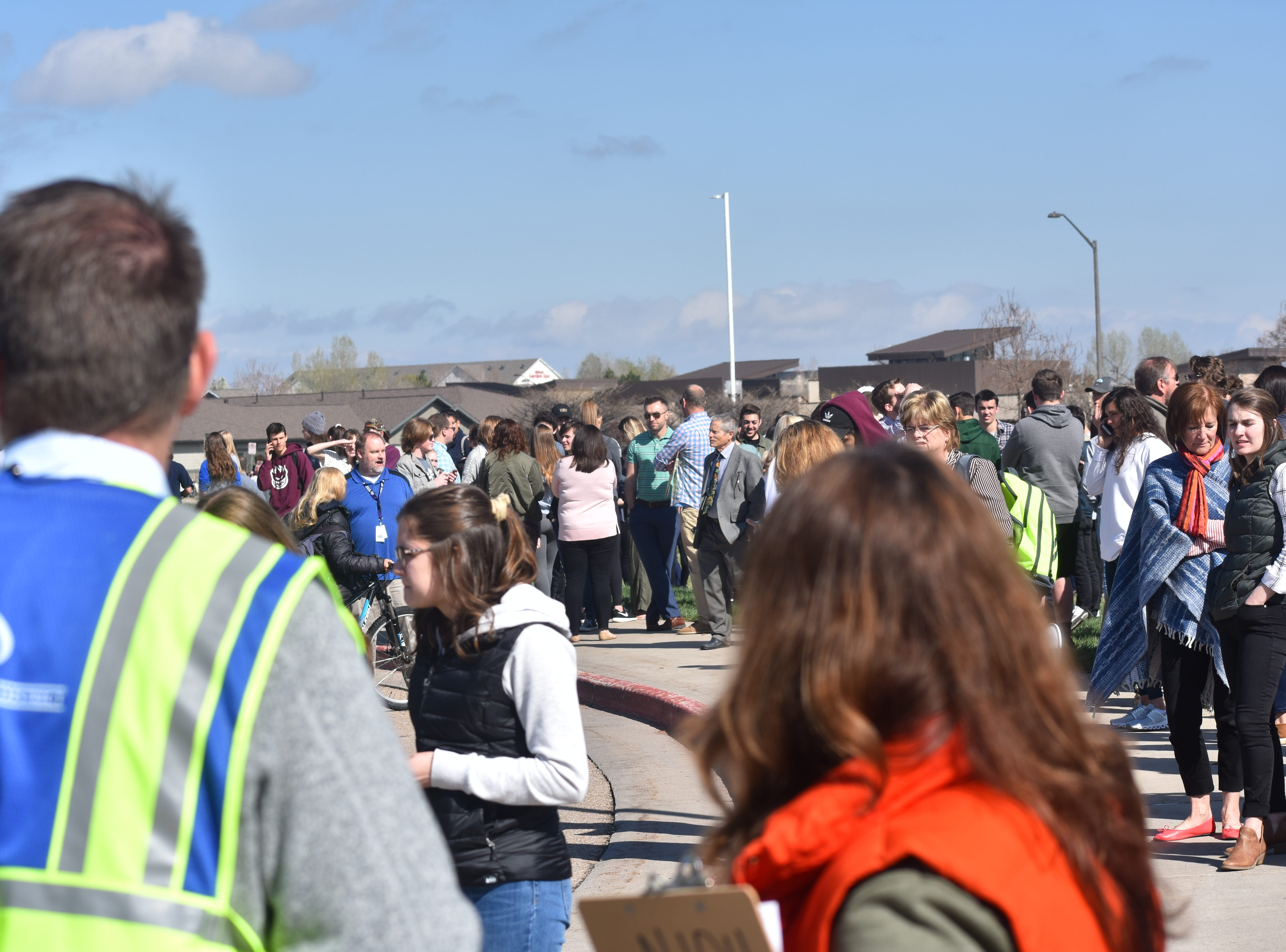 Fossil Ridge High School students were evacuated after a fire broke out in the industrial arts building of the school Thursday.
