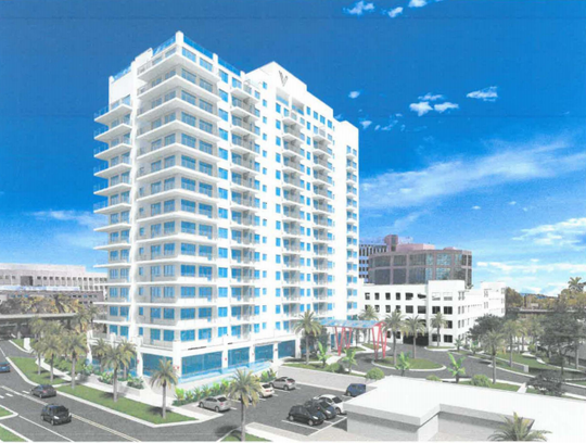Vantage is a planned 221-unit apartment building in the core of downtown Fort Myers.