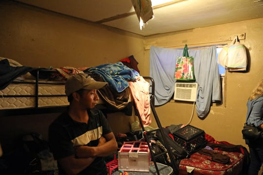 This room in a trailer in Immokalee offers occupants two bunk beds. It costs $70 a week for each person to lay their head on one of its pillows, according to the Immokalee Fair Housing Alliance.