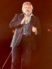 Colleen Dworak snapped this photo of country star Kenny Rogers during his 1980 concert.