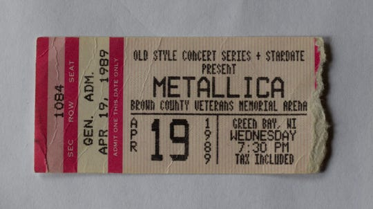 Randy Novak, Two Rivers, saw more than 30 rock concerts at the arena, including Metallica in 1989.