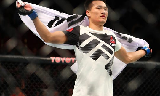 Chan Sung Jung, aka the Korean Zombie, will battle Brazilian Renato Moicano in the main event at Greenville's UFC Fight Night on June 22.