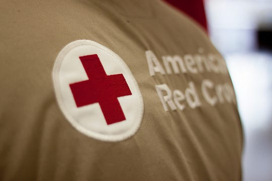 American Red Cross logo on jacket.