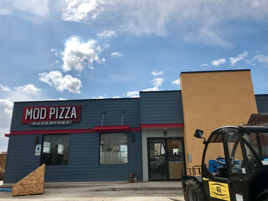 Construction is nearing completion for MOD Pizza in the old Hoagieville and KFC location on 10th Avenue South across from the mall.