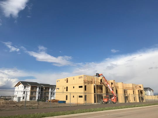 Construction is underway on apartments on the south side of Great Falls.