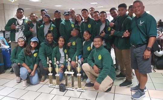 """Members of JFK AFJROTC returned in April from the annual JROTC """"Big Bear"""" competition in California. The """"Big Bear"""" competition is the largest in the West Coast."""