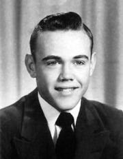 Purdue coach Gene Keady's high school senior picture.