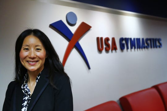 USA Gymnastics President and CEO Li Li Leung speaks about the organization, Thursday, April 25, 2019.