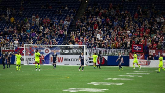 The Indy Eleven played Tampa Bay to a scoreless draw at Lucas Oil Stadium on May 1, 2019