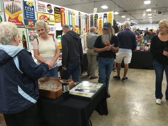 A wide variety of antique advertising items will be on display, and for sale, during the Indy Ad Show this weekend at the Boone County Fairgrounds in Lebanon.