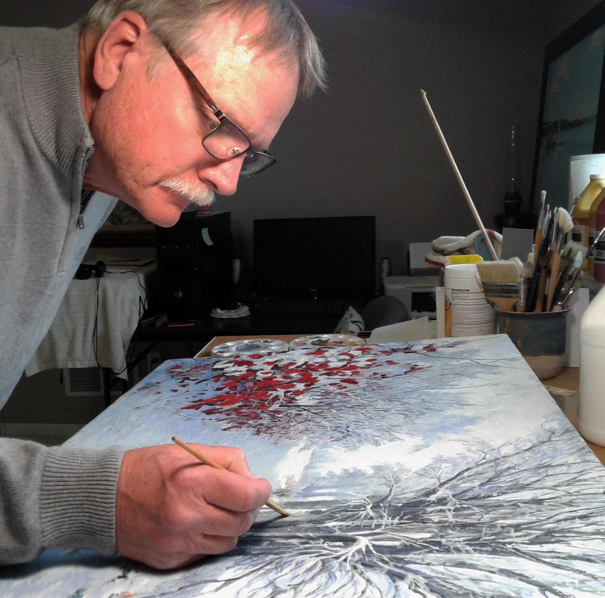 Retired and transplanted, Coralville artist making his 'marks'