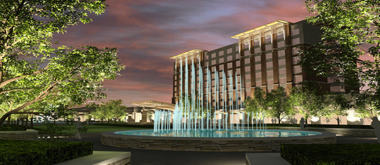 This is a rendering of Flowood's $50 million conference center and hotel once construction is completed.