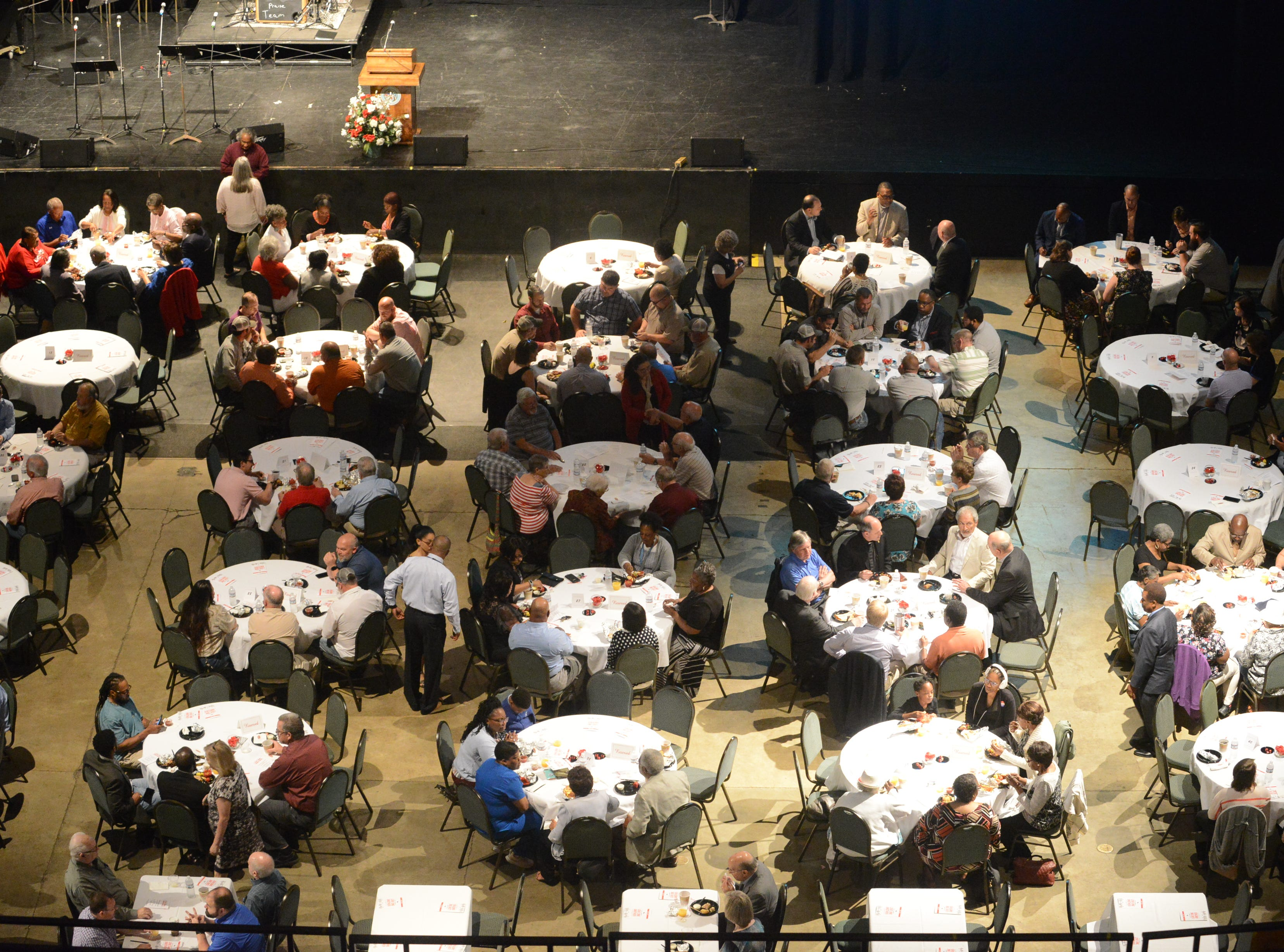 Hundreds of people attended the Mayor's Prayer Breakfast to celebrate National Day of Prayer at Carl Perkins Civic Center on May 2 in Jackson, Tenn.
