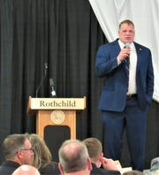 Speaking at the April 30 meeting of the Farragut/West Knox Chamber breakfast meeting, Knox County Mayor Glenn Jacobs drove home a point about changing to meet the needs of the technological revolution the entire nation is undergoing.