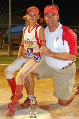 Aubrey Leach with her father, Todd