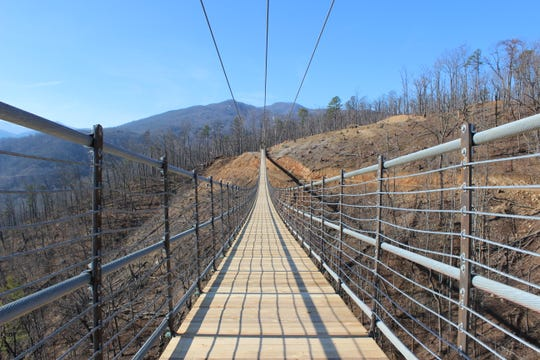 The nearly 700 feet long Gatlinburg SkyBridge at Skylift Park will open to the public Friday, May 17 at 1 p.m.